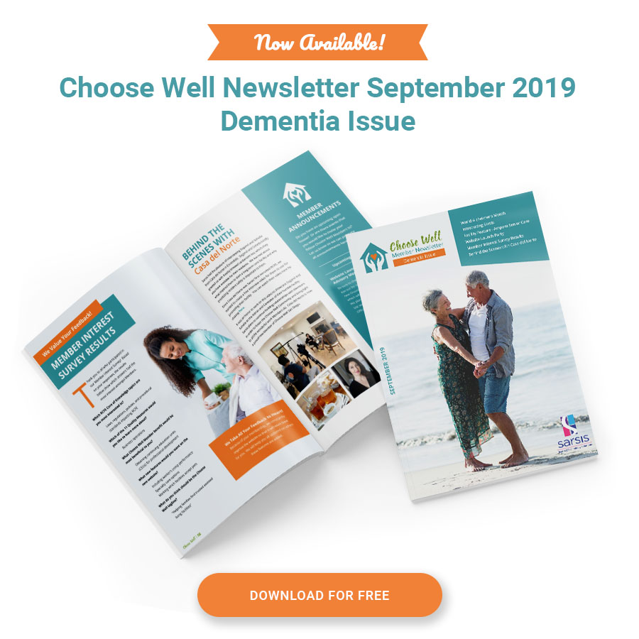 Download September 2019 Newsletter- Dementia Issue